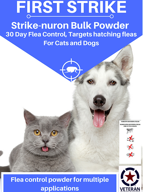 10 gram Flea Control, BULK powder Cats and Dogs