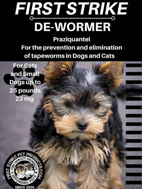 Tapeworm De-wormer for cats and small dogs 12 capsules