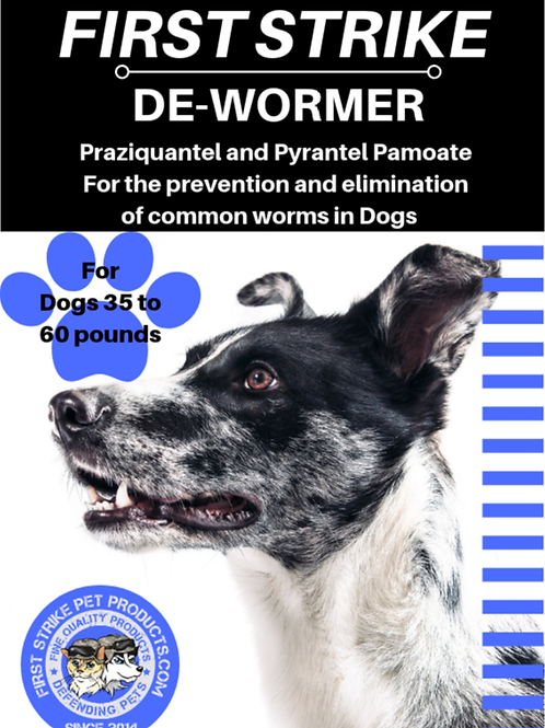 Broad Spectrum Dewormer for Medium dogs.