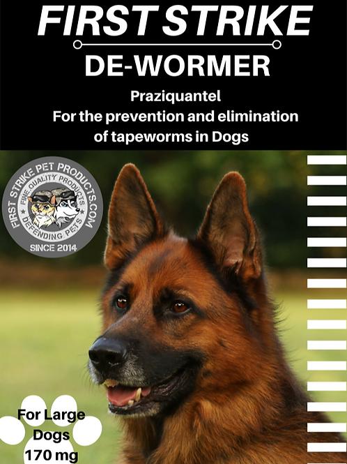Large Dog de-wormer, Tapeworm elimination 170 milligrams