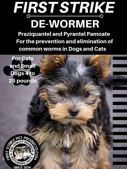 12 Broad Spectrum Dewormer capsules for cats and small dogs.