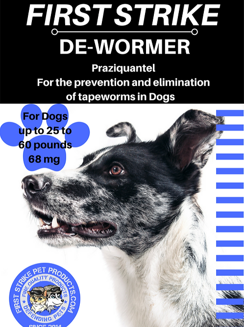 Medium Dog de-wormer Tapeworm elimination 68 milligrams