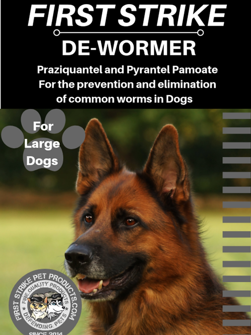 Broad Spectrum Dewormer for LARGE  dogs 6 capsules