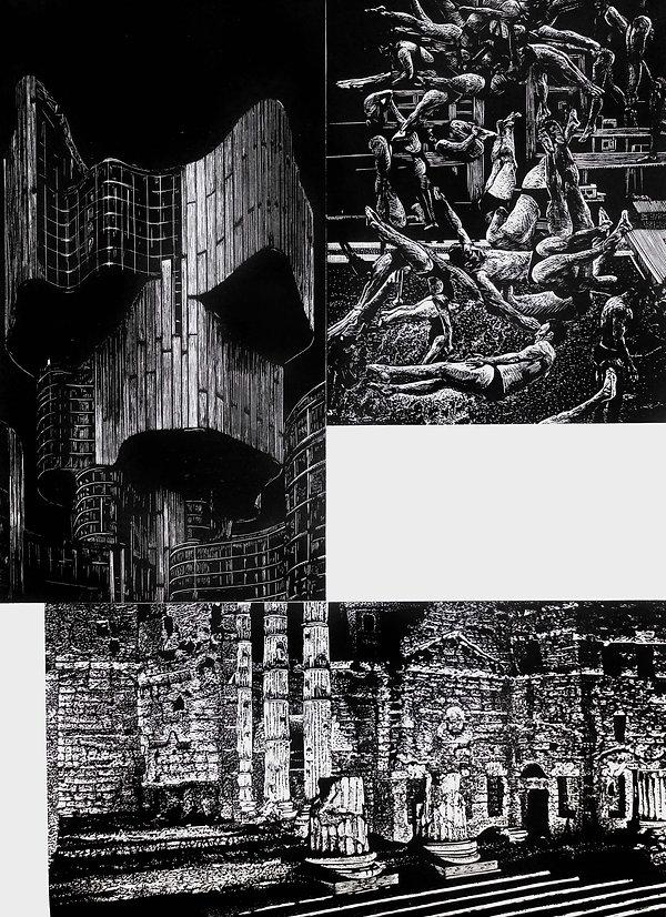 BYE Borja Moreno & Esteban Ferrer FRAGMENTOS woodcut 2019