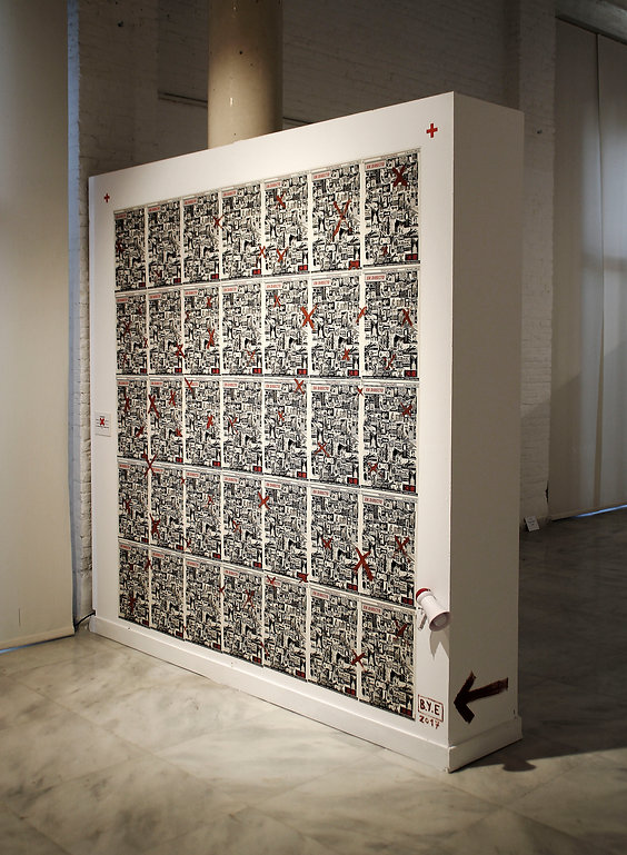 BYE Borja Moreno Farinos & Esteban Ferrer PROPAGANDA Installation 2017