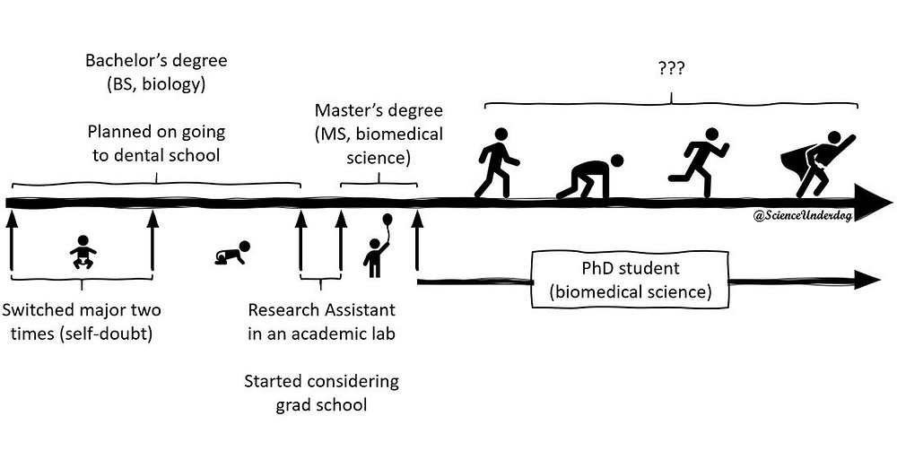 A synoptic timeline of my academic path.