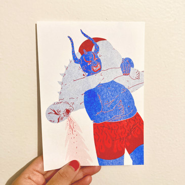 I MELT WITH YOU (risograph)