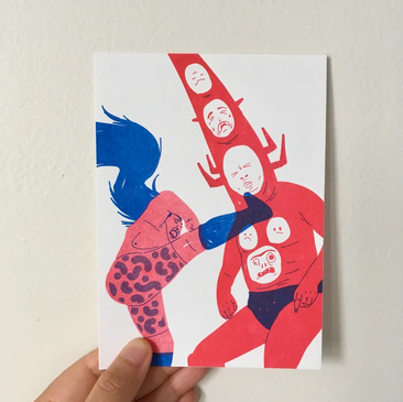 I WANNA DANCE WITH SOMEBODY (risograph)