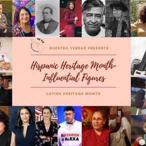 Hispanic Heritage Month- Influential Figures