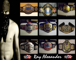 Ray Alexander defended 9 titles in a