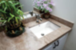 Beautiful porcelain sink to complete your dream washroom