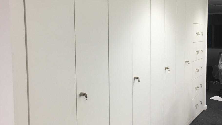floor to ceiling shelving storage.