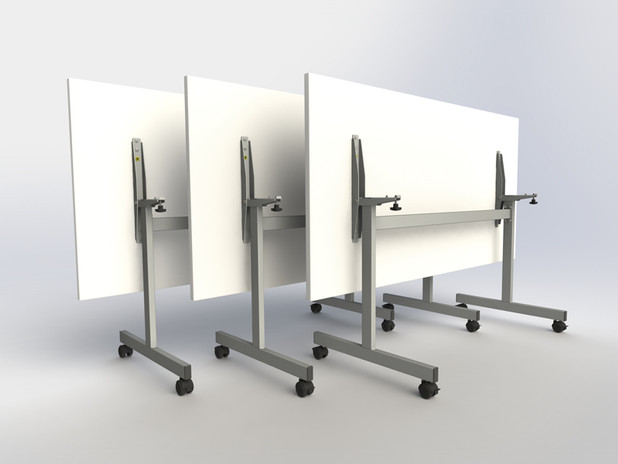 Tilt-top table.