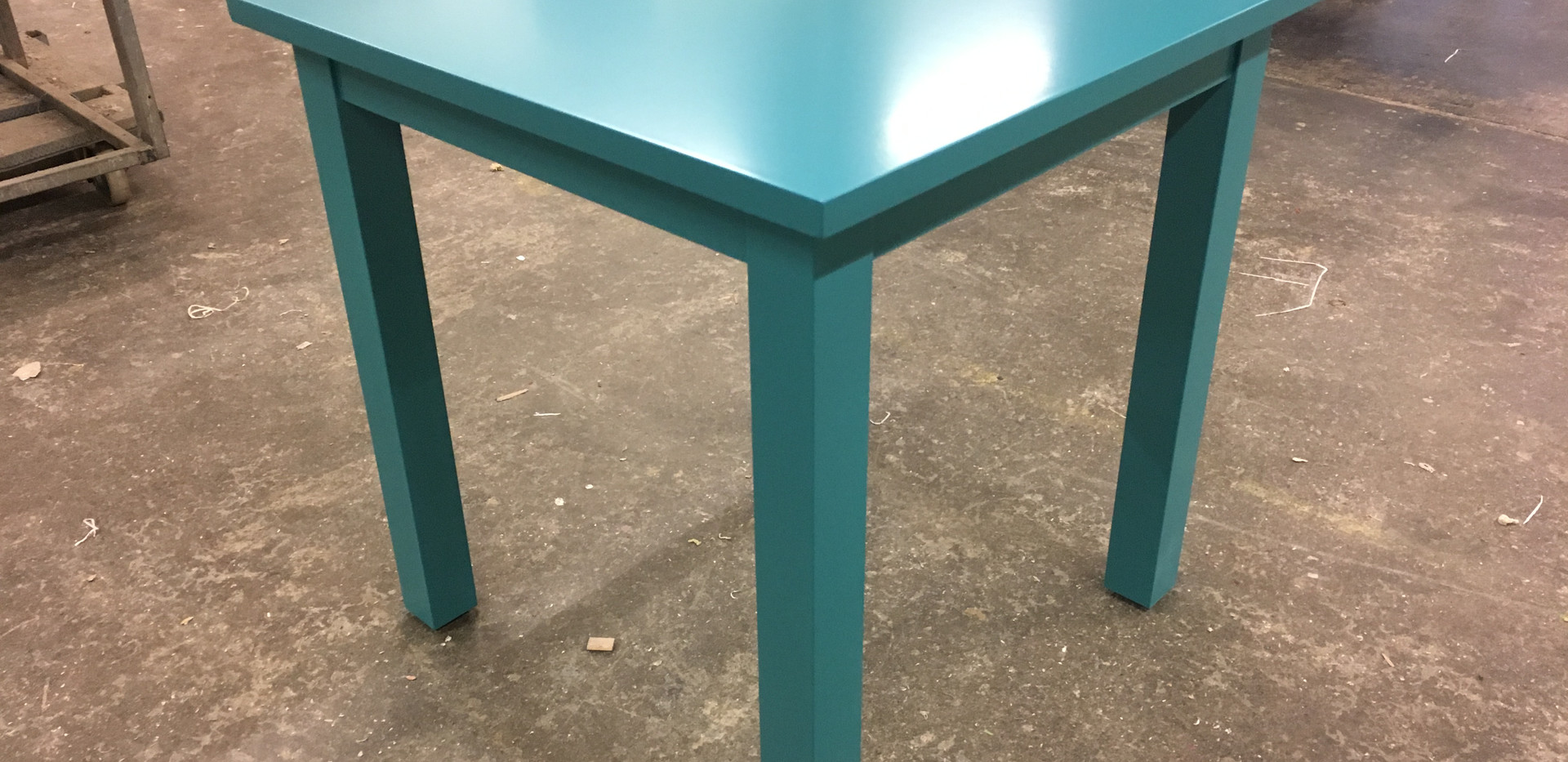 Procal painted table.