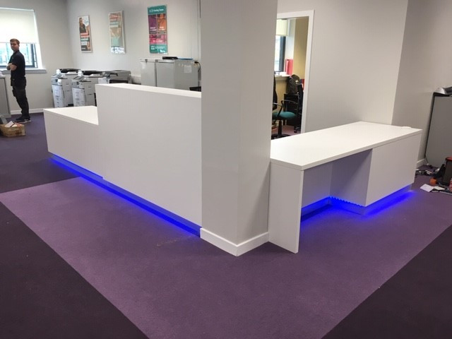 White colorcore with colour changing LED.