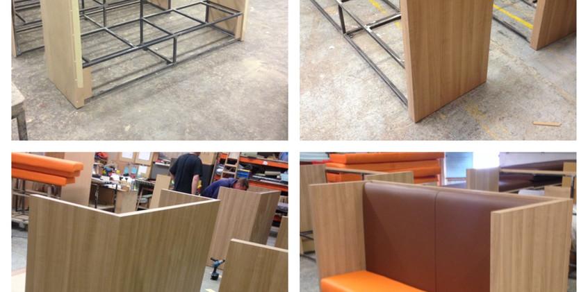 heavy duty public seating production.
