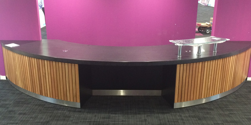 Corian and solid OAk counter.