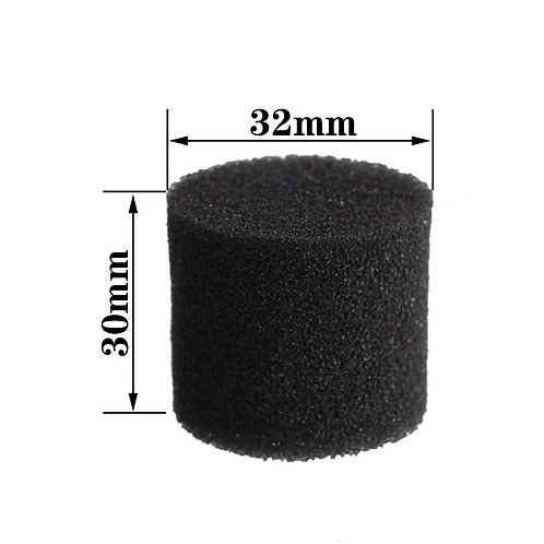 32mm round sponge, 20 pieces (black)