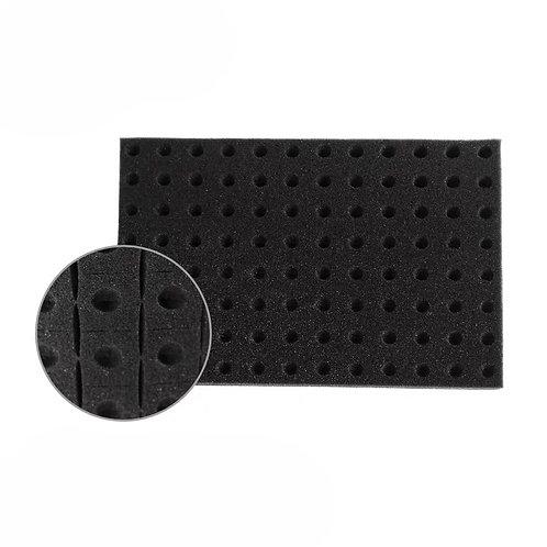 Square sponge, 96 pieces (black/white)