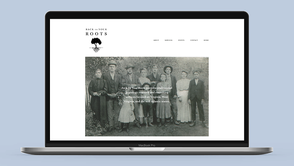 Back to Your Roots genealogy small business graphic design web design squarespace
