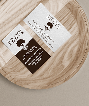 Back to Your Roots business card