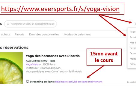S'inscrire avec Eversports