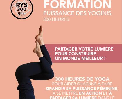 Formation Professeur de yoga 300h « Puissance des yoginis »