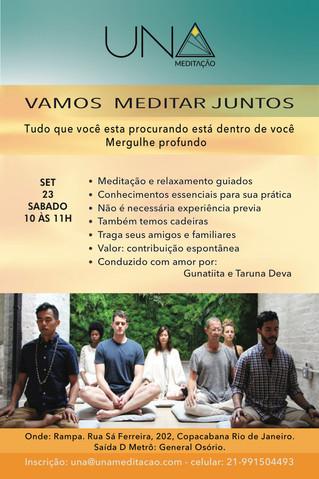 Vamos meditar juntos! Sábado, 23/09 no Espaço Rampa.