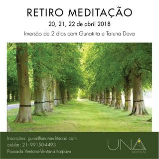UNA abre as inscriçoes para Retiro de Meditação em Itaipava - RJ