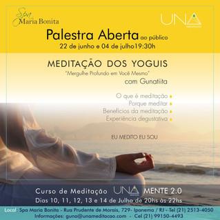 Convite para palestra aberta - Meditação dos Yoguis