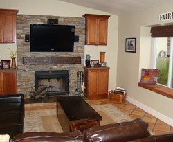 Fireplace and Media Center