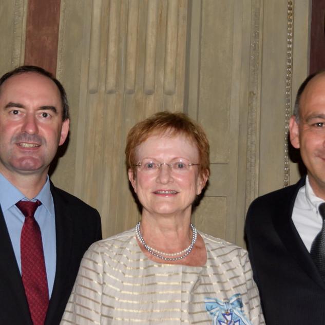 Minister Aiwanger, Frau Eitel und Herr Fargeon