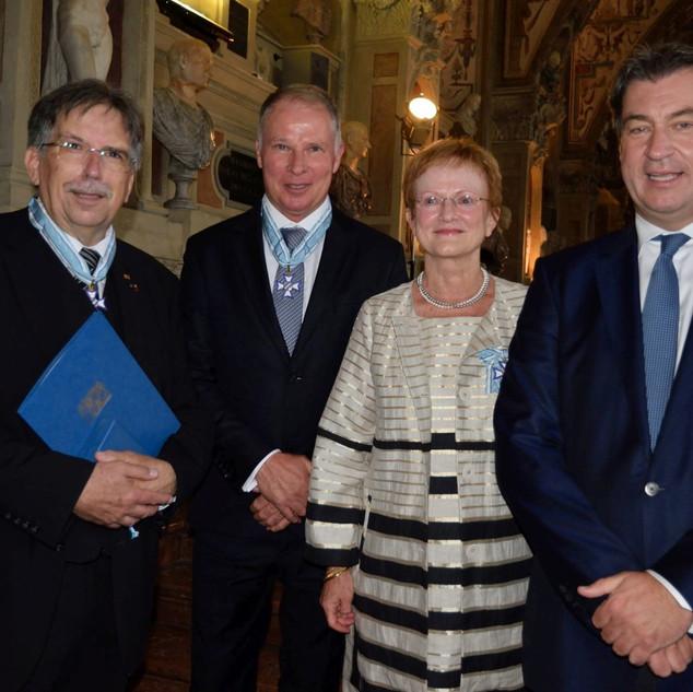 Minister-    präsident Dr. Markus Söder, Frau Eitel, Herr Reuter und Herr Kammler