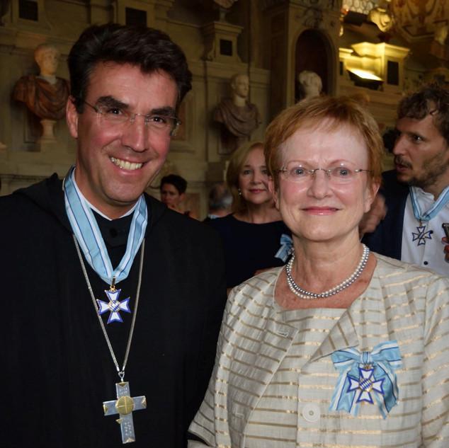 Abt Dr. Johannes Eckert und Frau Eitel