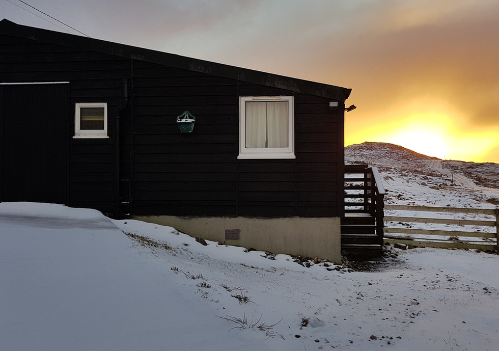 Winter sunrise at the Chalet