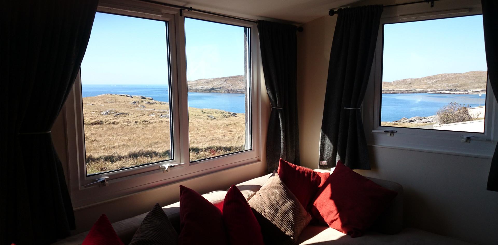 Creagach Chalet living room views
