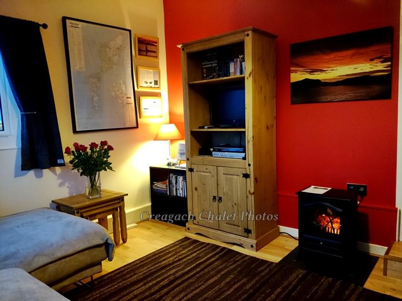 Creagach Chalet living room