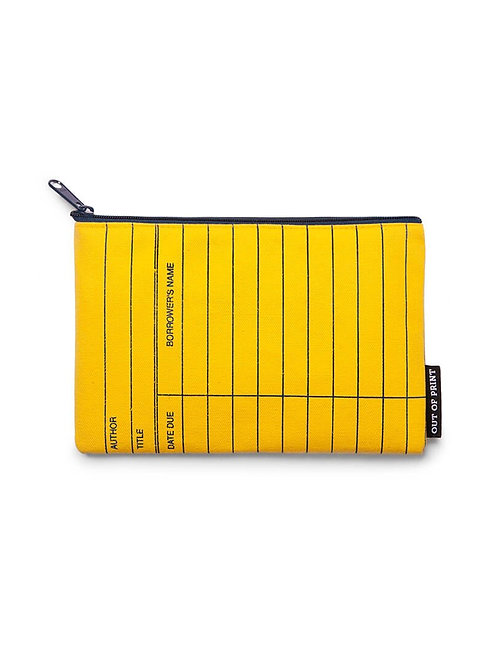 Library card yellow pouch