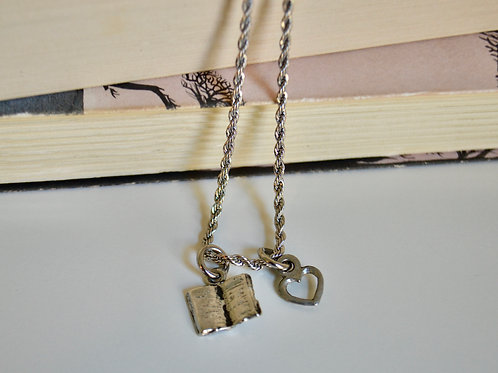 Open Book Necklace