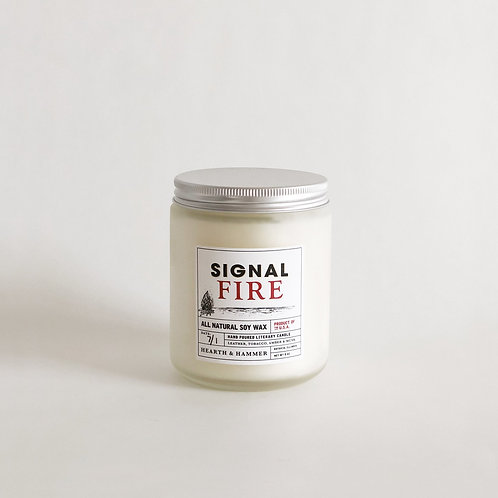 Signal Fire Literary Candle