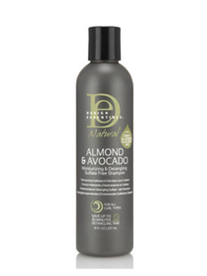 DE Almond & Avocado Moisturizing & Detangling SulfateFree Shampoo