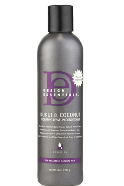 Design Essentials Kukui & Coconut Hydrating Leave-In Condiitoner 8oz