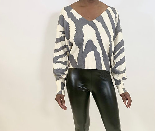 Stone Look Zebra Sweater