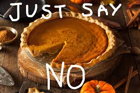 just say no pumpkin pie