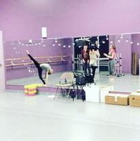 Seniors in rehearsal for their contempor