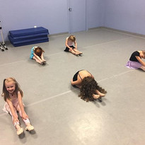 Miss Olivia's Ballet 1 class stretching