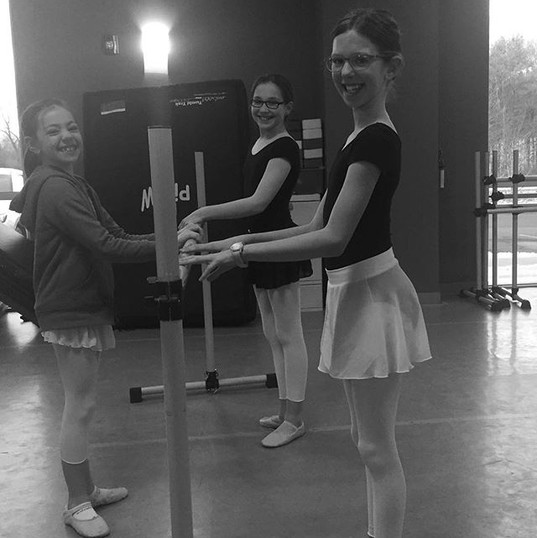 Happy Ballet 2 girls on a snowy day! #wh
