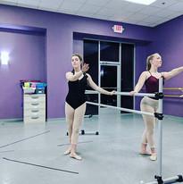 Senior ballet working hard in class! #w