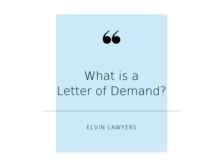 FAQ: Letters of Demand