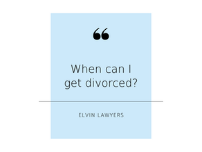 When can I get divorced?